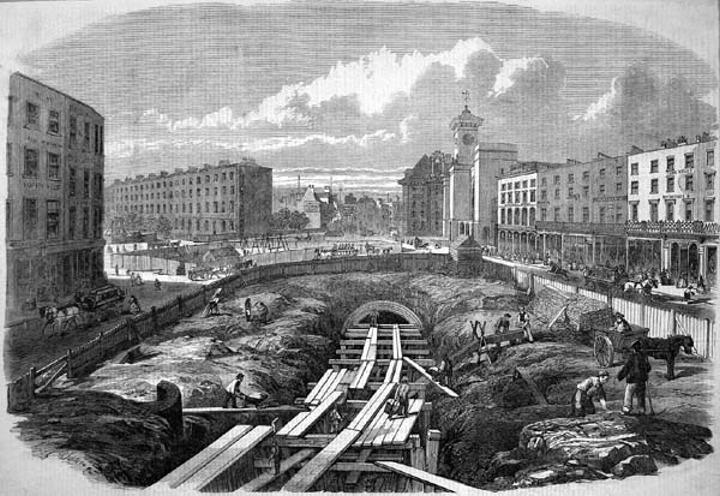 世界最初の地下鉄 工事