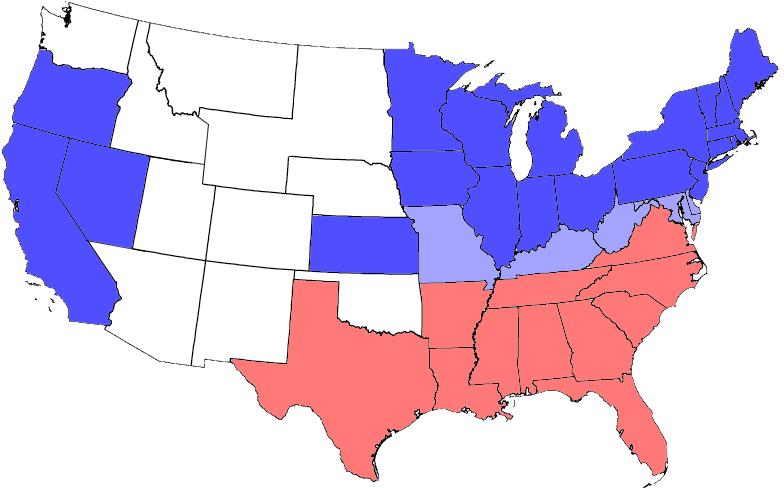 南北戦争 勢力
